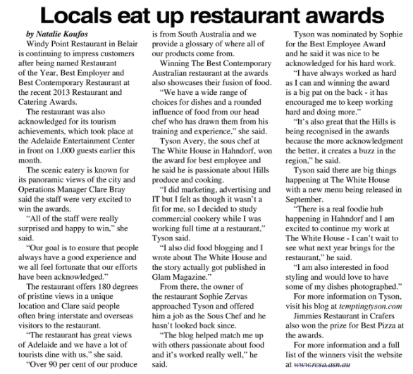 The Weekender Herald Article 2013